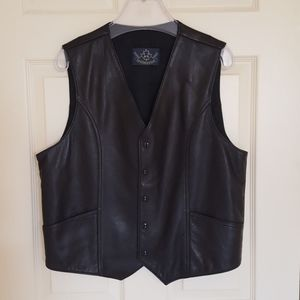 Other - 3 for $20 - Men's Black Real Genuine Leather Vest
